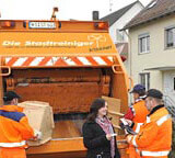 The IT-3000 is used in bulk waste collection to collect payments