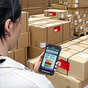 Full-touch handheld for use in logistics