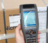 All mobile data capture is carried out by the CASIO handheld terminal